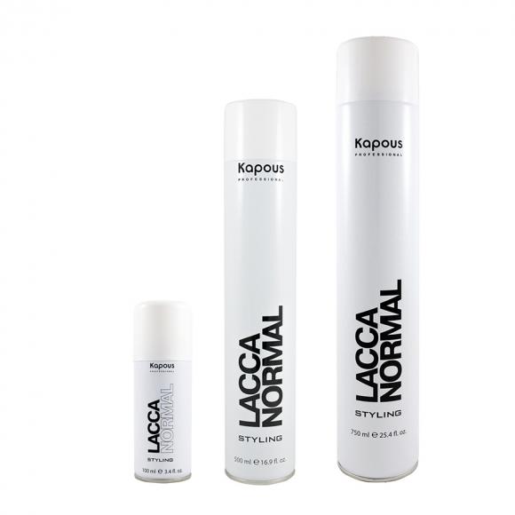 Лак аэрозольный для волос нормальной фиксации Kapous