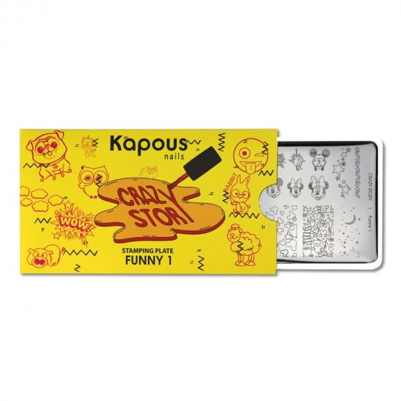 Пластина для стемпинга «Crazy story» Funny 1, Kapous Nails