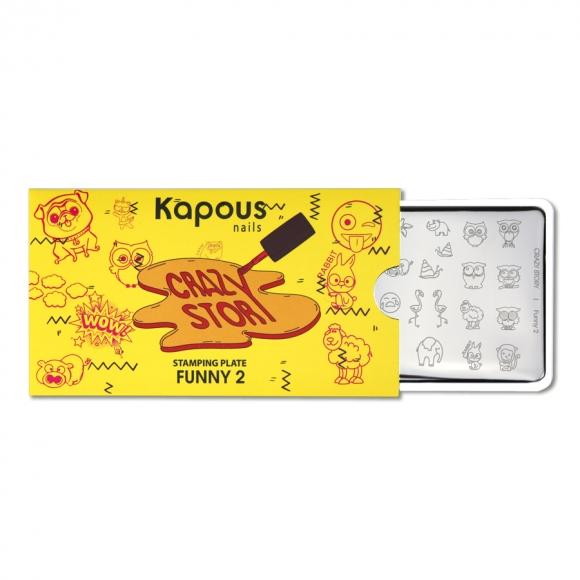 Пластина для стемпинга «Crazy story» Funny 2, Kapous Nails