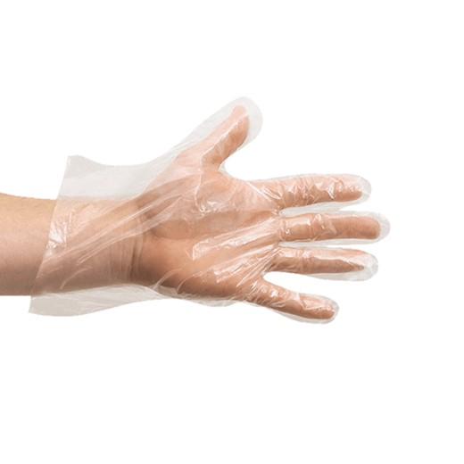 Перчатки одноразовые полиэтилен, размер М, 100шт