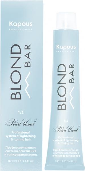 """Крем-краска для волос с экстрактом жемчуга """"Blond Bar"""" Kapous Professional"""