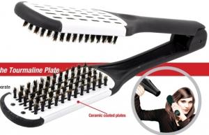 Расческа для выпрямления волос с натуральной щетиной