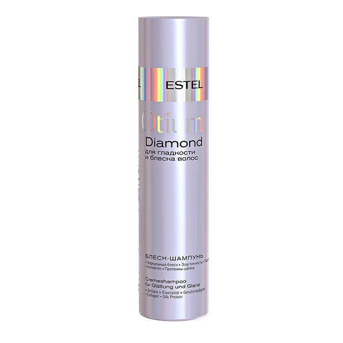 Блеск-шампунь для гладкости и блеска волос Estel Otium Diamond