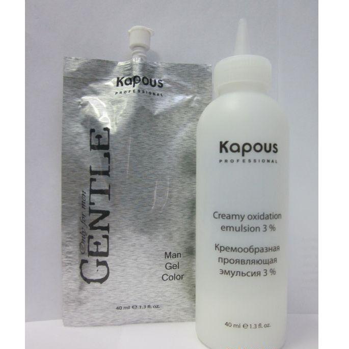 Гель-краска для волос для мужчин «Gentlemen» Kapous