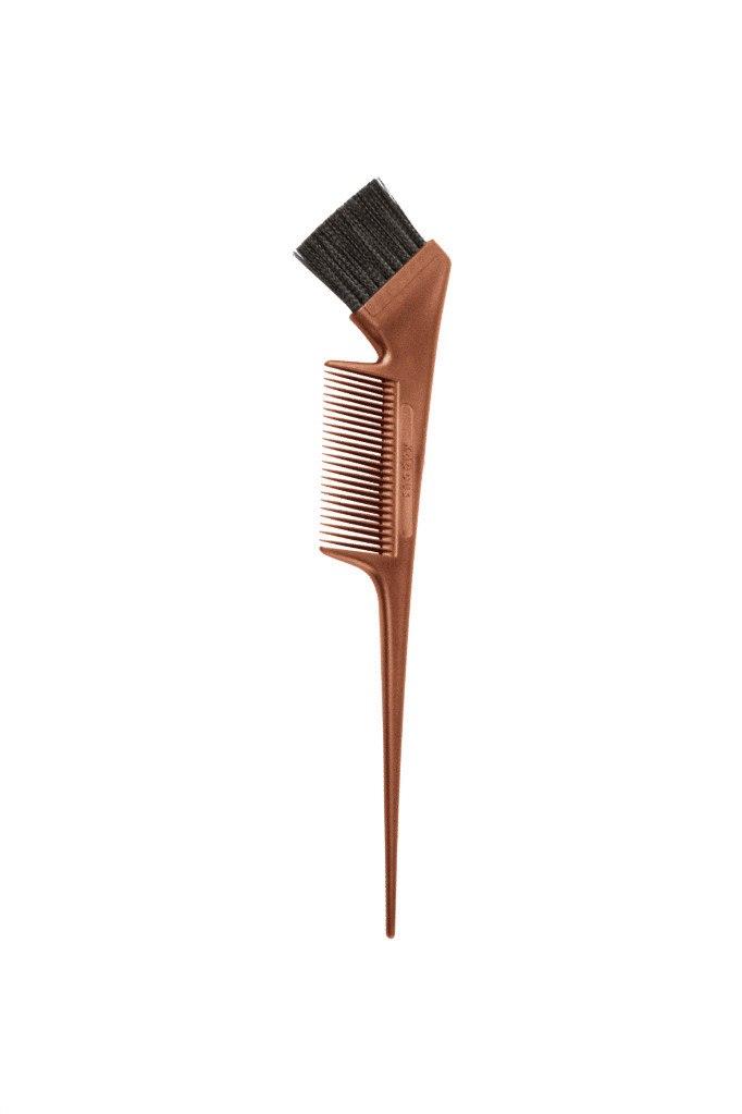 Кисть с расческой для окрашивания волос (бронзовая) Kapous