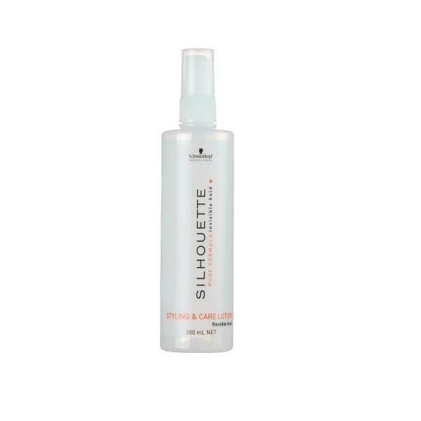 Спрей объем и уход для волос мягкой фиксации Schwarzkopf Silhouette Pure Pumpspray
