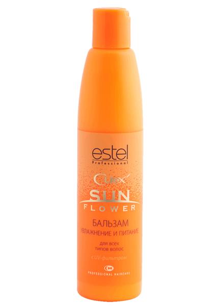 Бальзам Увлажнение и Питание с UV-фильтром Estel Curex Sunflower