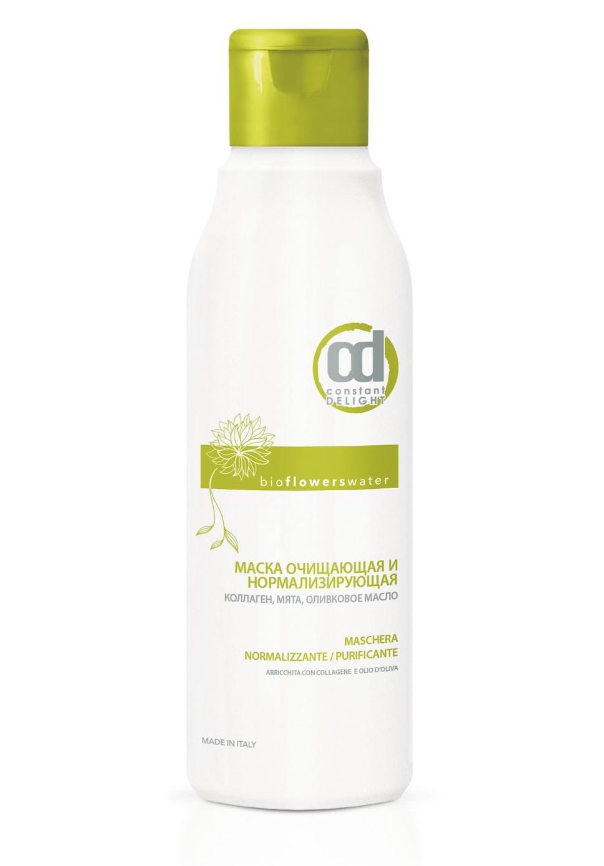 Маска очищающая и нормализующая с коллагеном, мятой и оливковым маслом Constant Delight Bio Flowers Water Bivalent