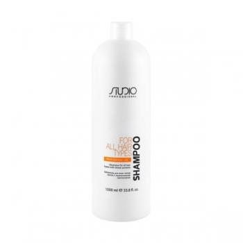 Шампунь для всех типов волос с пшеничными протеинами Studio Professional