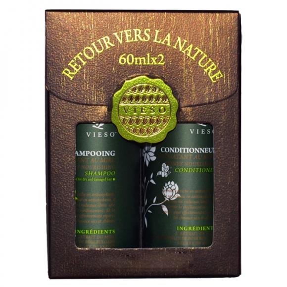 Набор пробников питательный с медом Vieso 2*60мл