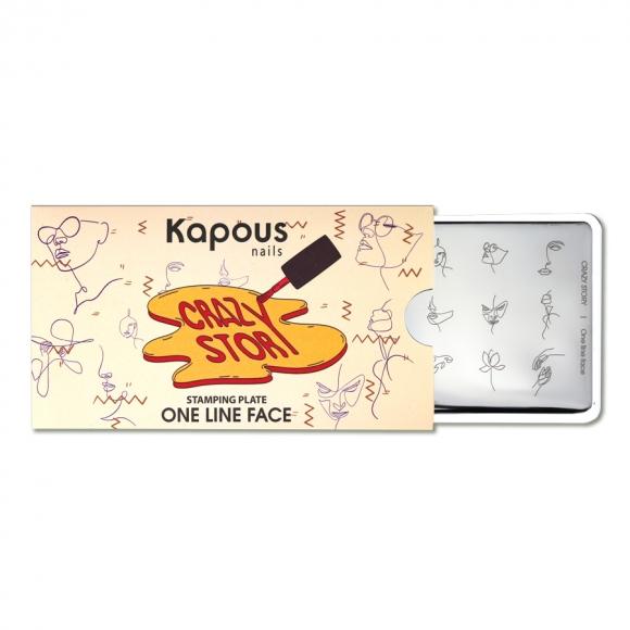 Пластина для стемпинга «Crazy story» One Line Face, Kapous Nails